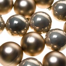 Pearl Baubles - Shatterproof - Pack of 16 x 40mm