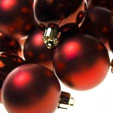 Dark Red Baubles - Shatterproof - Pack of 16 x 40mm