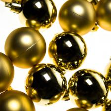Gold Baubles - Shatterproof - Pack of 16 x 40mm