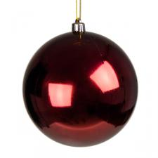 Dark Red Baubles - Shatterproof - Single 140mm