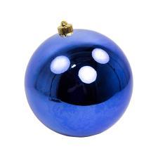 Cobalt Blue Baubles - Shatterproof - Single 200mm
