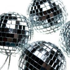 Shatterproof Silver Mirror Baubles - 4 x 70mm