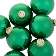 Krebs Emerald Green Glass Baubles - 8 x 67mm