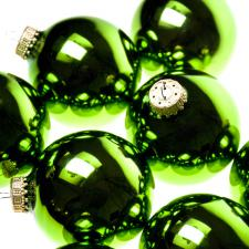Krebs Jade Lime Glass Baubles - 8 x 67mm