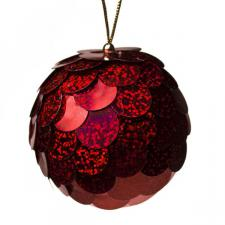 Red Sequin Bauble - 80mm