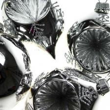 Silver Glass Onion Baubles - 4 Pack