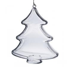 Clear Splittable Tree Bauble - 100mm