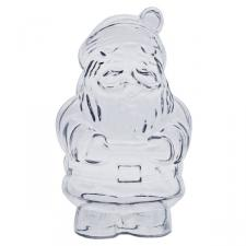 Clear Splittable Santa Bauble - 130mm