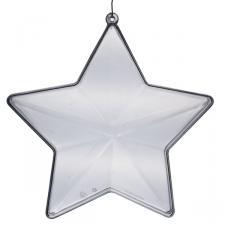 Clear Splittable Star Bauble - 140mm