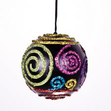 Multicoloured Swirl Bauble - 80mm