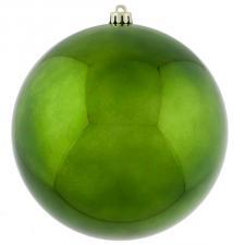 Green Baubles Shiny Shatterproof - Single 250mm
