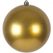 Metallic Gold Baubles Shiny Shatterproof - Single 250mm