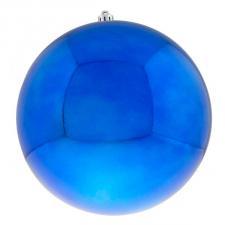 Blue Baubles Shiny Shatterproof - Single 300mm
