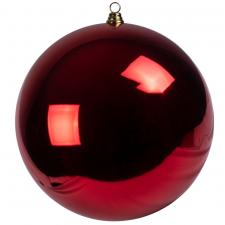 Red Baubles Shiny Shatterproof - Single 400mm
