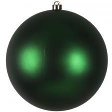 Green Shatterproof Baubles  - Single 250mm Matt
