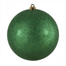 Xmas Baubles - Single 200mm Emerald Green Glitter Shatterproof