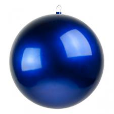 Blue Metallic Finish Shatterproof Bauble - Single 400mm