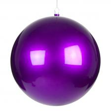 Purple Metallic Finish Shatterproof Bauble - Single 400mm