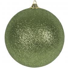 Cedar Green Shatterproof Glitter Bauble - 180mm