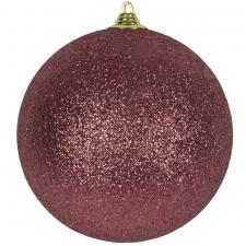 Pink Shatterproof Glitter Bauble - 250mm