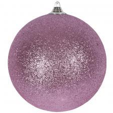 Rose Blush Shatterproof Glitter Bauble - 180mm