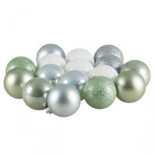Misty Lake Shatterproof Baubles - 16 x 60mm