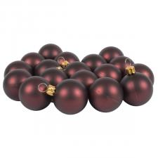 Luxury Brown Satin Finish Shatterproof Baubles - Pack of 18 x 40mm