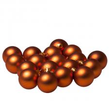 Luxury Copper Orange Satin Finish Shatterproof Baubles - Pack of 18 x 40mm