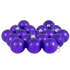 Luxury Purple Satin Finish Shatterproof Baubles - Pack of 18 x 40mm
