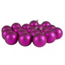 Luxury Cerise Pink Satin Finish Shatterproof Baubles - Pack of 18 x 60mm