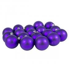 Luxury Purple Satin Finish Shatterproof Baubles - Pack of 18 x 60mm