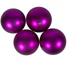 Luxury Cerise Pink Satin Finish Shatterproof Baubles - Pack 4 x 140mm