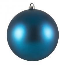 Luxury Aqua Turquoise Satin Finish Shatterproof Baubles - Single 200mm