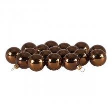 Luxury Brown Shiny Finish Shatterproof Bauble Range - Pack of 18 x 40mm
