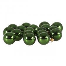 Luxury Green Shiny Finish Shatterproof Bauble Range - Pack of 18 x 40mm