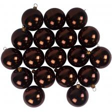 Luxury Brown Shiny Finish Shatterproof Bauble Range - Pack of 18 x 60mm