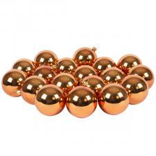 Luxury Copper Orange Shiny Finish Shatterproof Bauble Range - Pack of 18 x 60mm