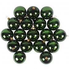 Luxury Green Shiny Finish Shatterproof Bauble Range - Pack of 18 x 60mm