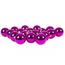 Luxury Cerise Pink Shiny Finish Shatterproof Bauble Range - Pack of 18 x 60mm