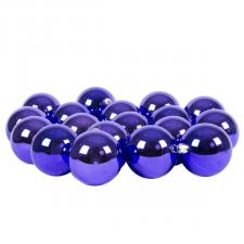 Luxury Purple Shiny Finish Shatterproof Bauble Range - Pack of 18 x 60mm