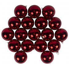 Luxury Red Shiny Finish Shatterproof Bauble Range - Pack of 18 x 60mm