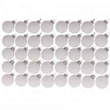 Pack Of 64 x 40mm Matt Arctic White Glass Baubles