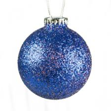 Seamless Shatterproof Purple Glitter Bauble - 65mm
