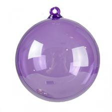 Lilac Purple Splittable Bauble - 100mm