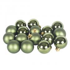 Dark Green Fashion Trend Shatterproof Baubles - Pack Of 16 x 40mm