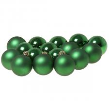 Holly Green Fashion Trend Shatterproof Baubles - Pack Of 16 x 40mm