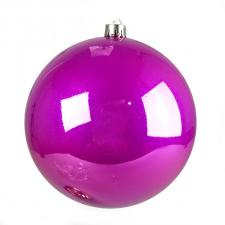 Magenta Pink Fashion Trend Shatterproof Baubles - Pack Of 4 x 100mm