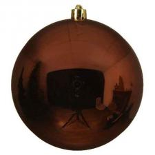 Rosewood Brown Fashion Trend Shatterproof Baubles - Single 140mm