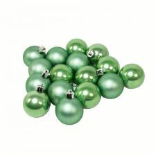 Sage Green Fashion Trend Shatterproof Baubles - Pack Of 16 x 40mm