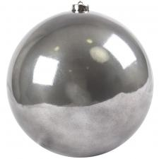 Stone Grey Fashion Trend Shatterproof Baubles - Single 200mm